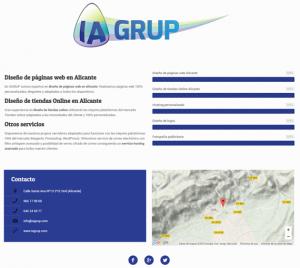 diseño de pagina web básica alicante