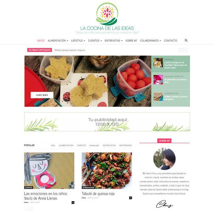 Dise O Y Desarrollo P Gina Web Blog La Cocina De Las Ideas